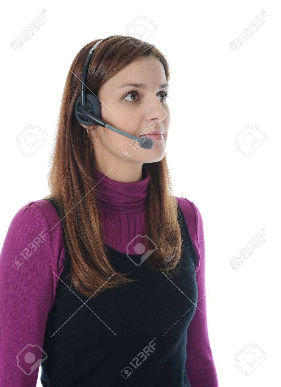 beautiful young woman in headphone Stock Photo - 8954772
