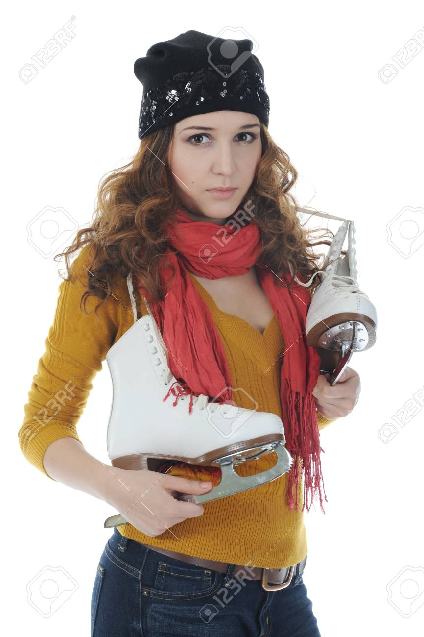 Girl with skates Stock Photo - 8954913
