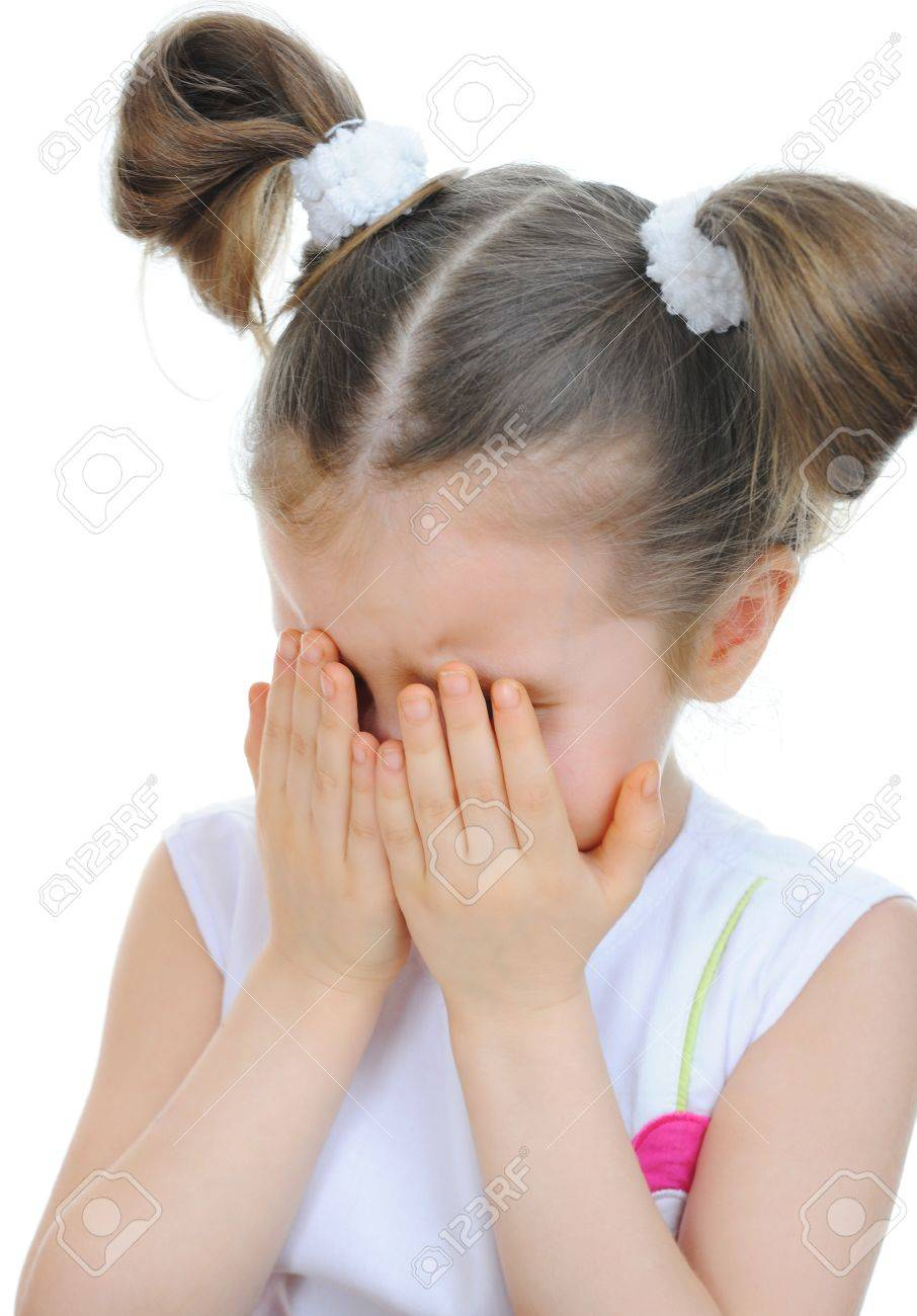 little girl crying Stock Photo - 9125222