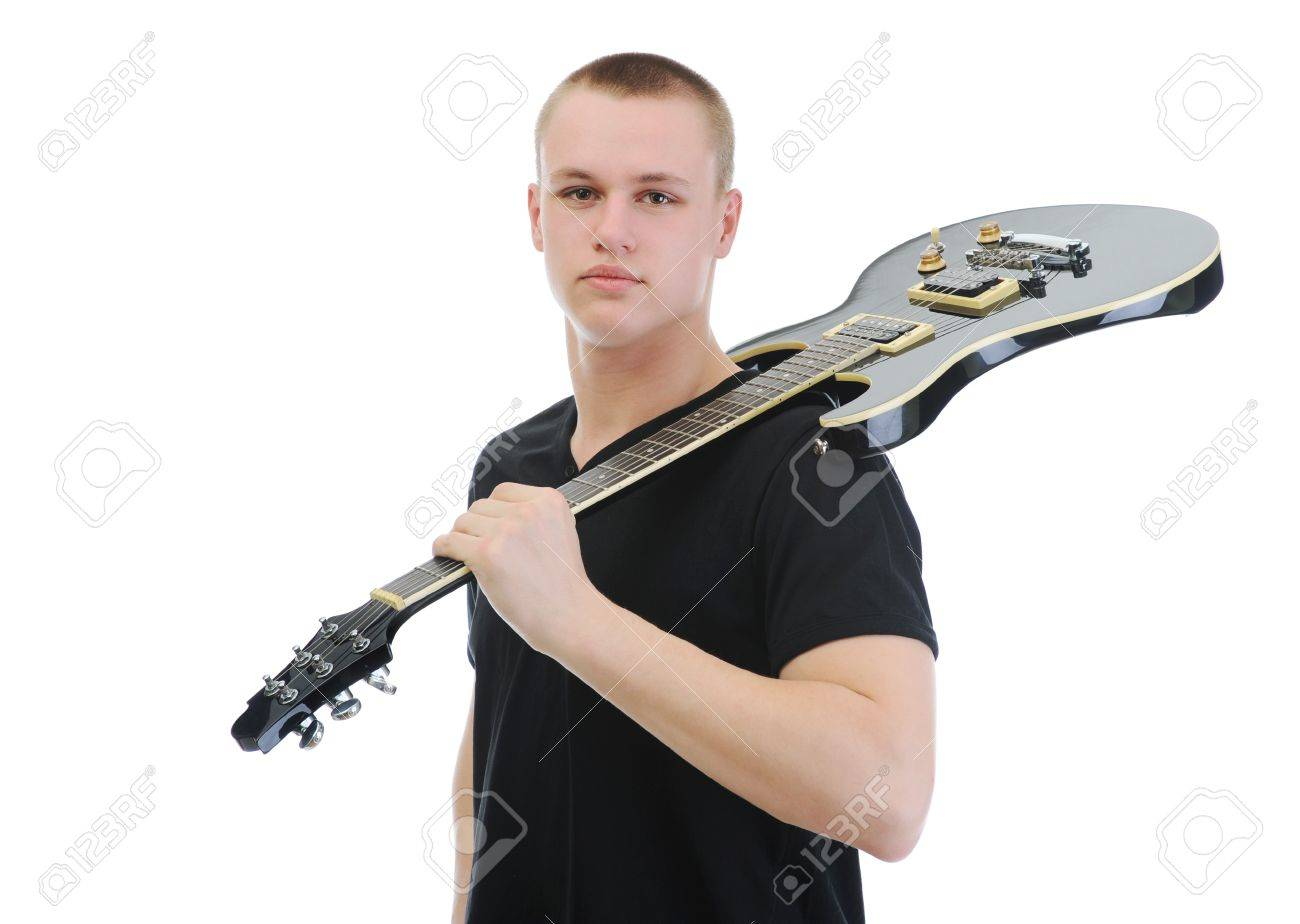 Portrait of a man with guitar Stock Photo - 9125594