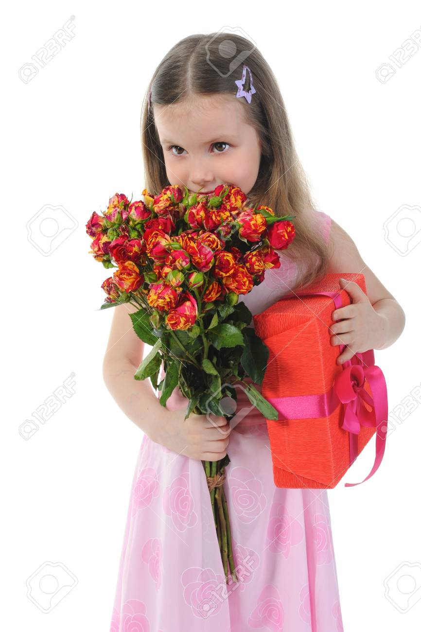 little girl with a rose. Stock Photo - 9241739