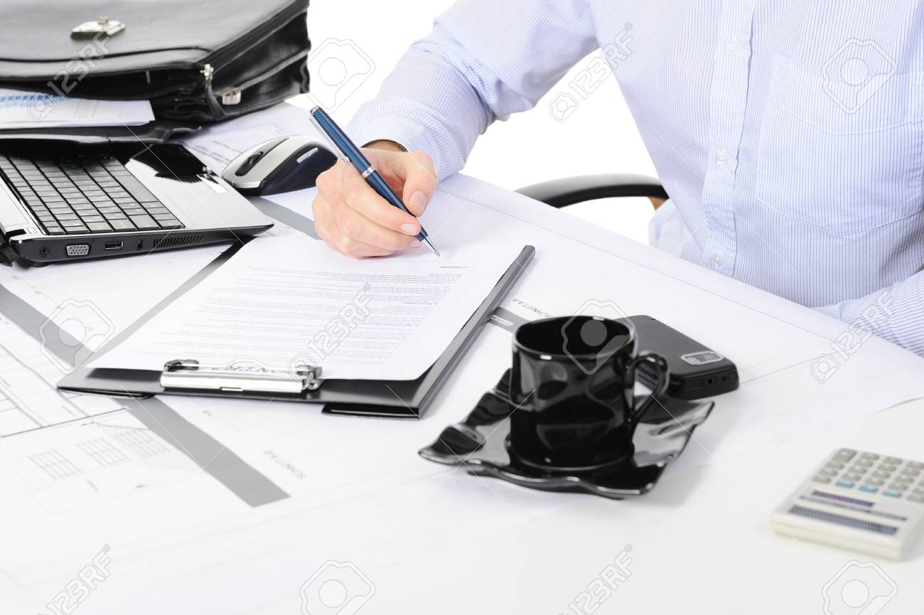 table businessman Stock Photo - 9379815