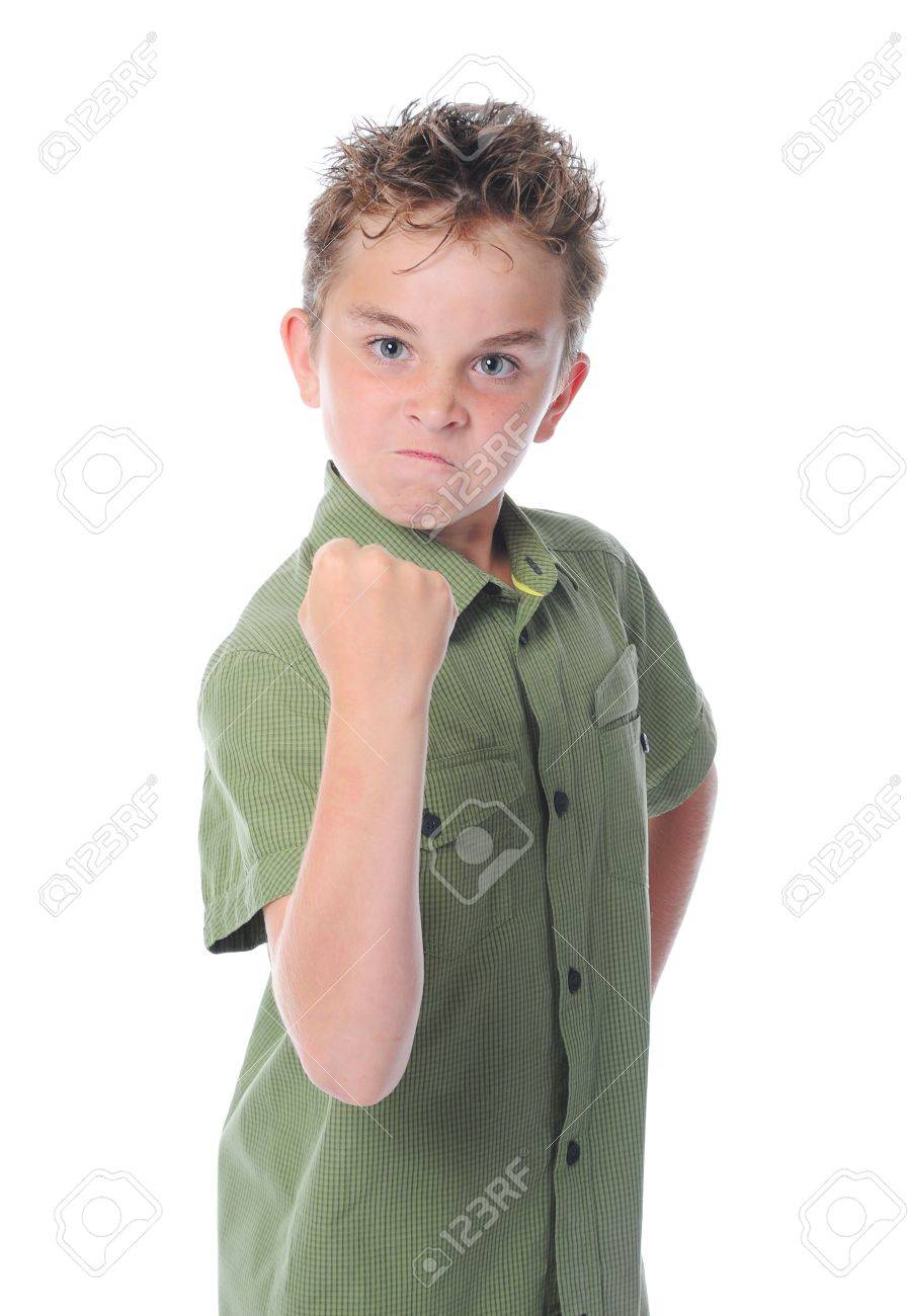 Angry little boy Stock Photo - 9951930