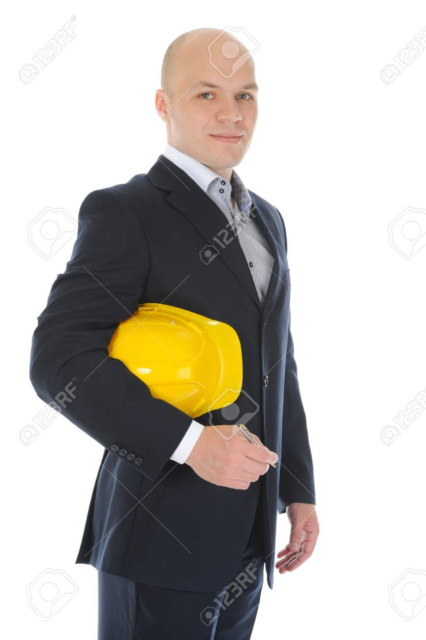 Businessman with construction helmet Stock Photo - 9952352