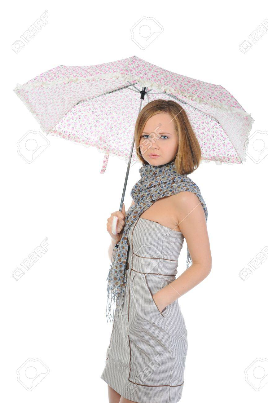 Image of a woman with umbrella Stock Photo - 9952233