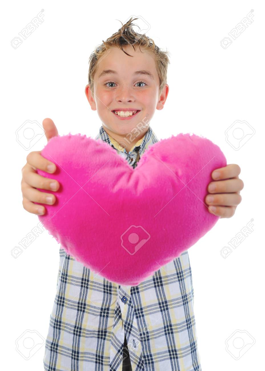 boy gives a heart Stock Photo - 9952175