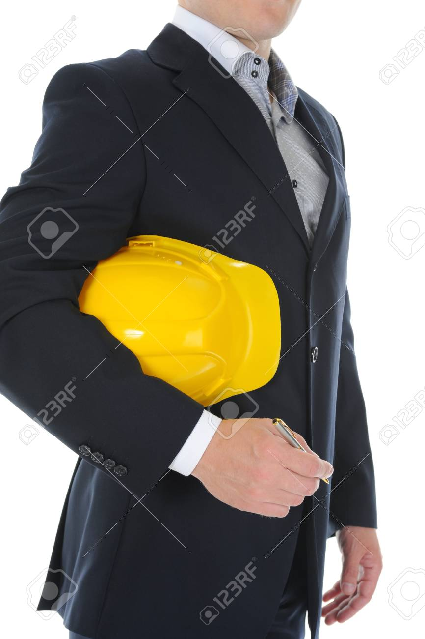 Businessman with construction helmet Stock Photo - 9952174