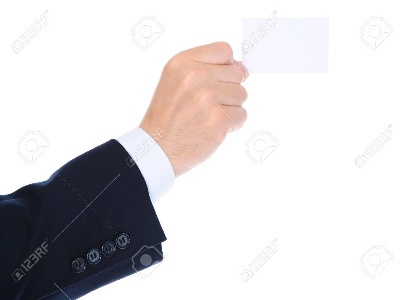 man handing a blank Stock Photo - 10477417