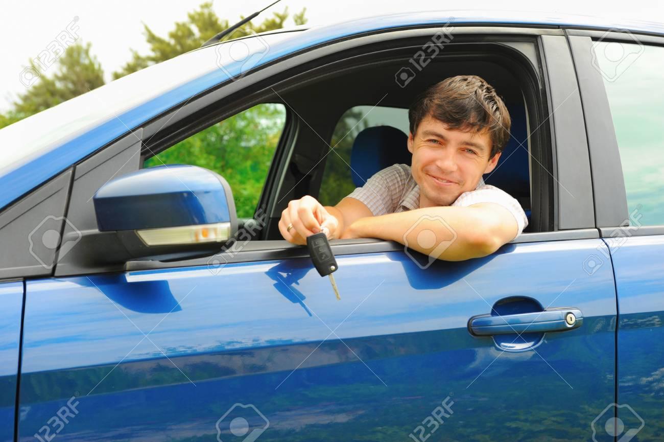 man showing the keys Stock Photo - 10567019
