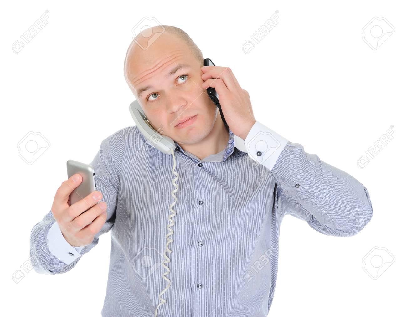 Nervous businessman Stock Photo - 10566991