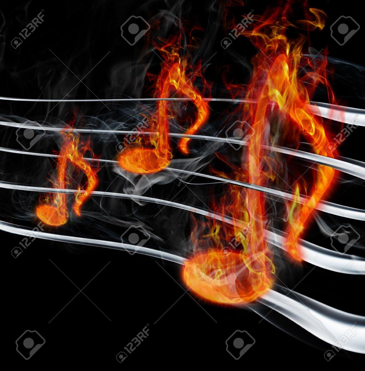 burning music Stock Photo - 10567011