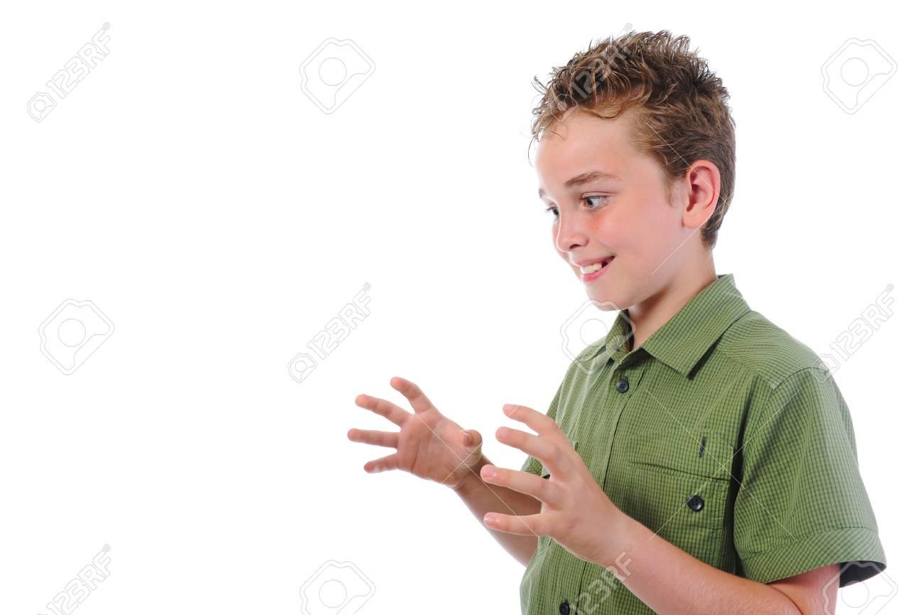 Portrait of emotionally boy. Stock Photo - 10577612