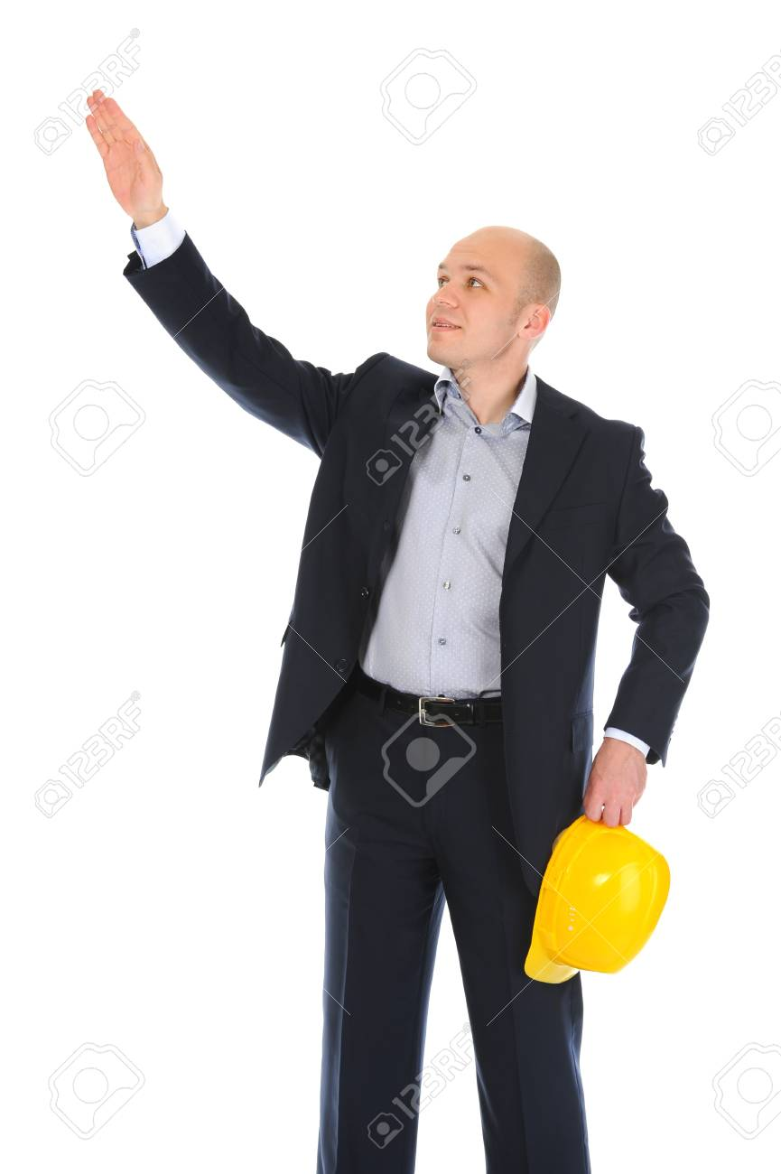 Businessman with construction helmet Stock Photo - 11342305