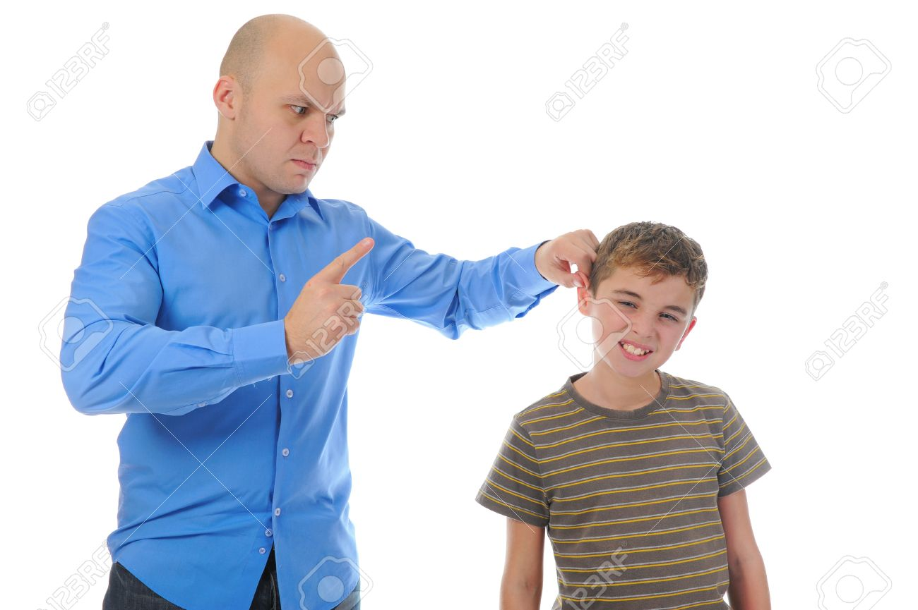 The father punishes his son