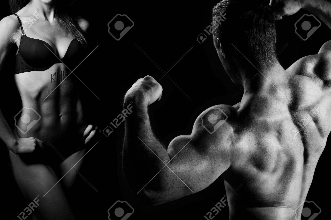 man and a woman in the gym Stock Photo - 11361521