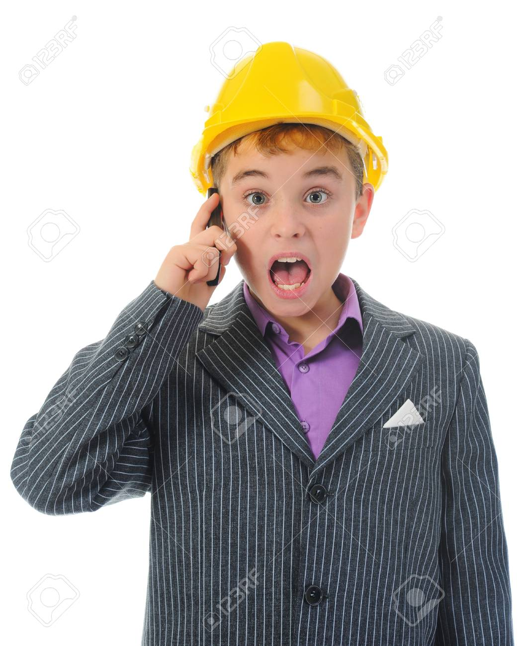 Little smiling builder in helmet Stock Photo - 11360938