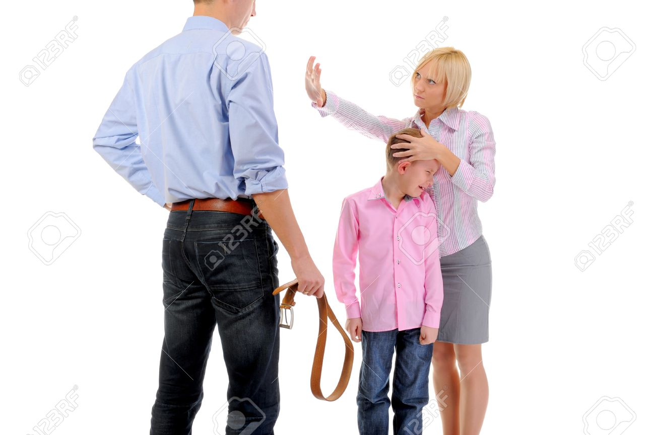 Strict father punishes his son Stock Photo - 11360696