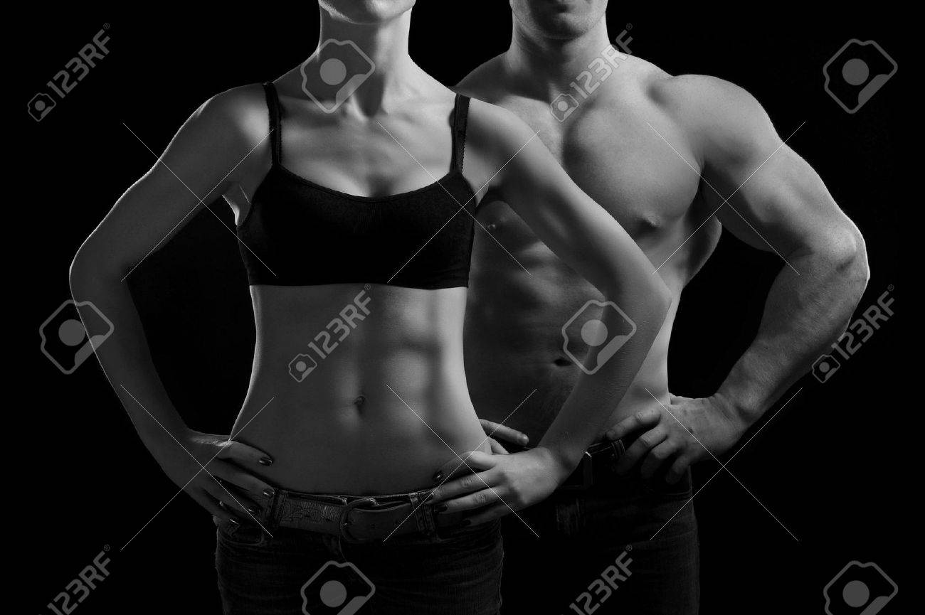 man and a woman in the gym Stock Photo - 11360674