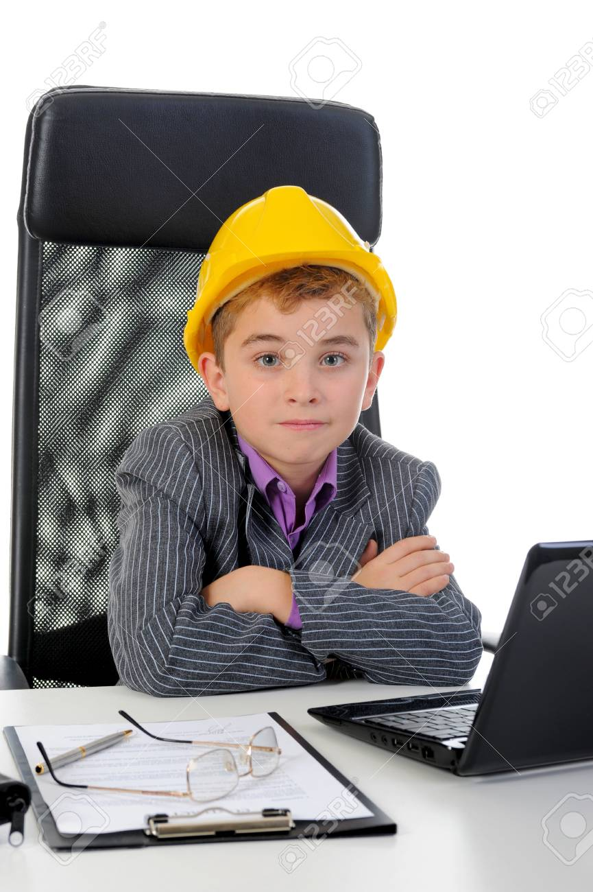 Young businessman using a laptop Stock Photo - 14023899