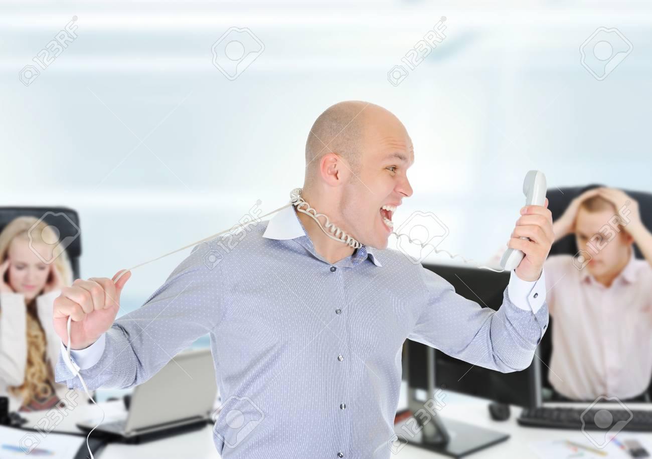 Nervous businessman Stock Photo - 14070750