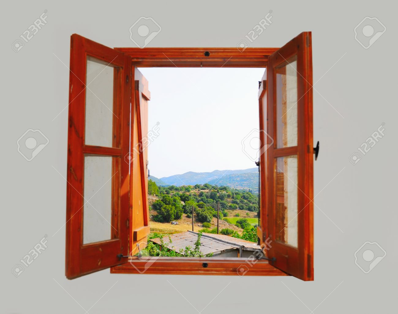 mountain views from the window Stock Photo - 19824055