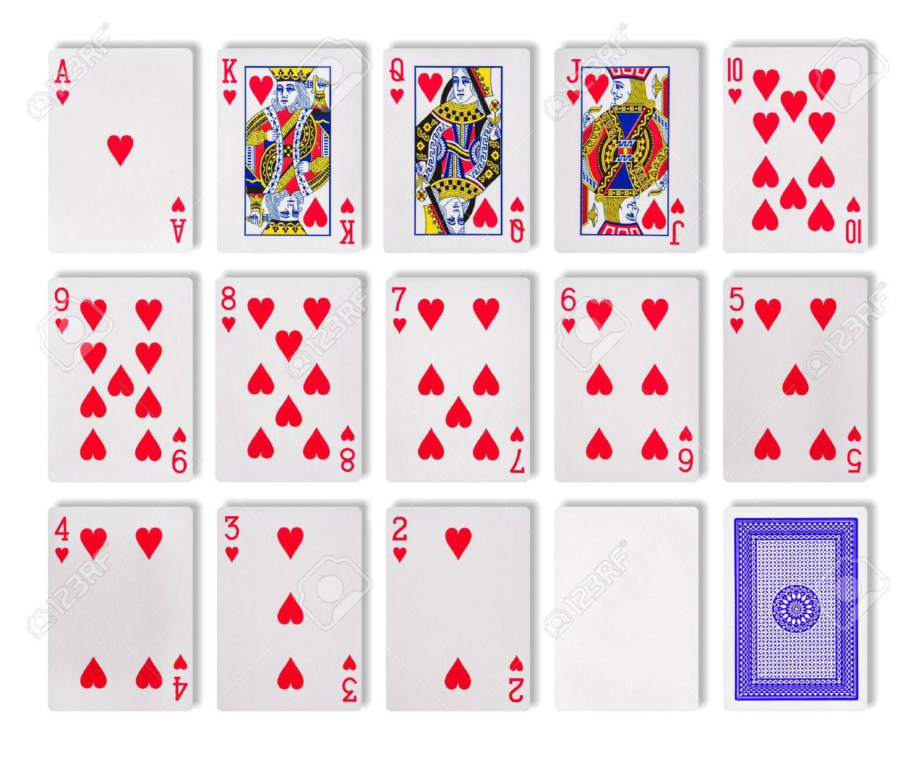 La Combinacion De Cartas De Juego De Casino Poker Aislado En El