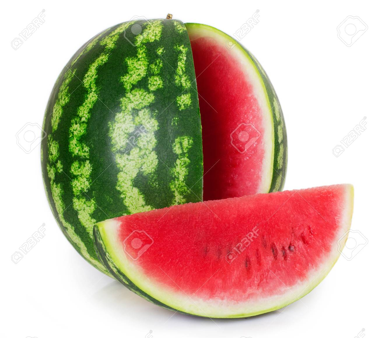 fresh watermelon isolated on white background - 125370157