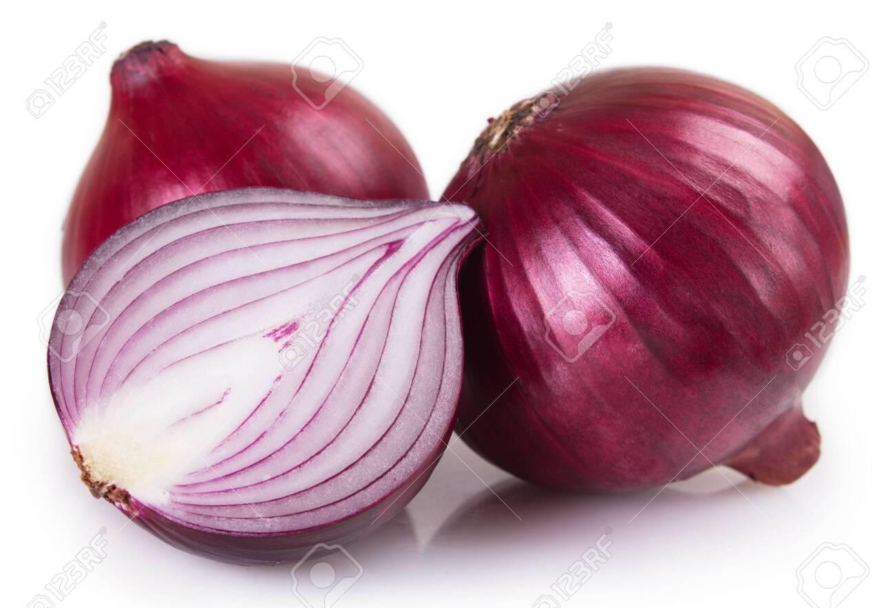 fresh onion isolated on white background - 126326942