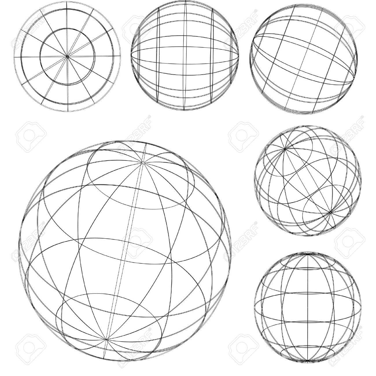 Illustration: original globe elements-spheres Stock Vector - 1527025