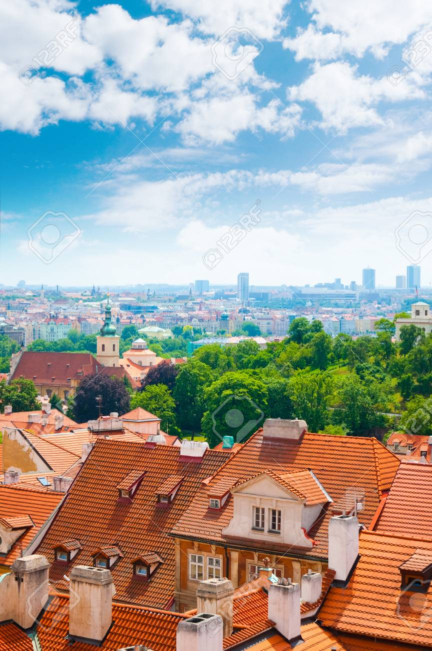 view of Prague city from hill Stock Photo - 10308536
