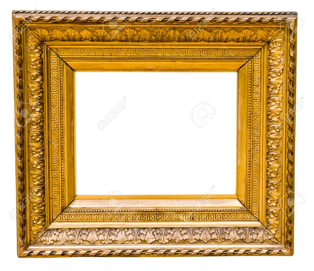 vintage gold frame, isolated on white Stock Photo - 16536582