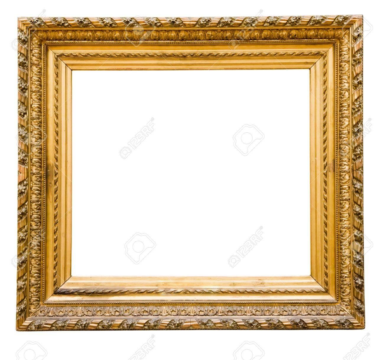 Vintage Gold Frame, Isoliert Auf Weiß Lizenzfreie Fotos, Bilder Und ...