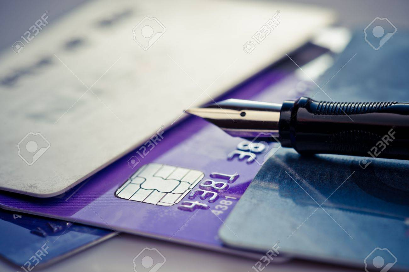 Credit card and pen Stock Photo - 17205994
