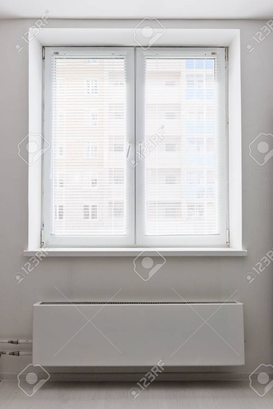 White Plastic Double Door Window With Radiator Under It Domestic Stock Photo Picture And Royalty Free Image Image 27039603