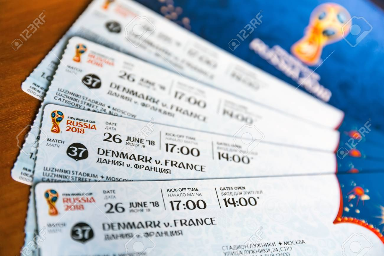 FIFA Venue Ticketing Center, Moscow, Russia - April 2018  Tickets