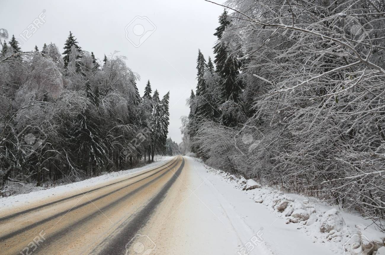 winter road adverse driving conditions stock photo picture and royalty free image image 90264539 123rf com