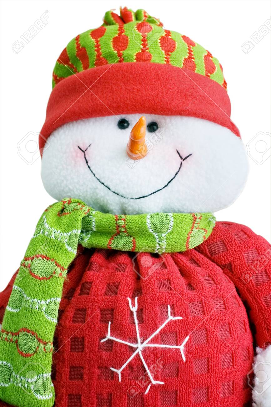 snowman toy in sportswear on white background Stock Photo - 6111883