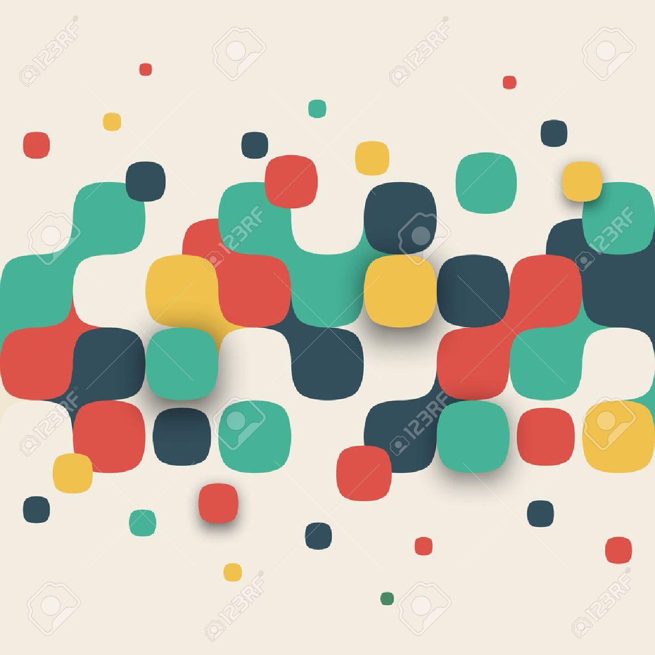 ベクトルの背景。正方形の抽象的なテクスチャのイラスト。バナー