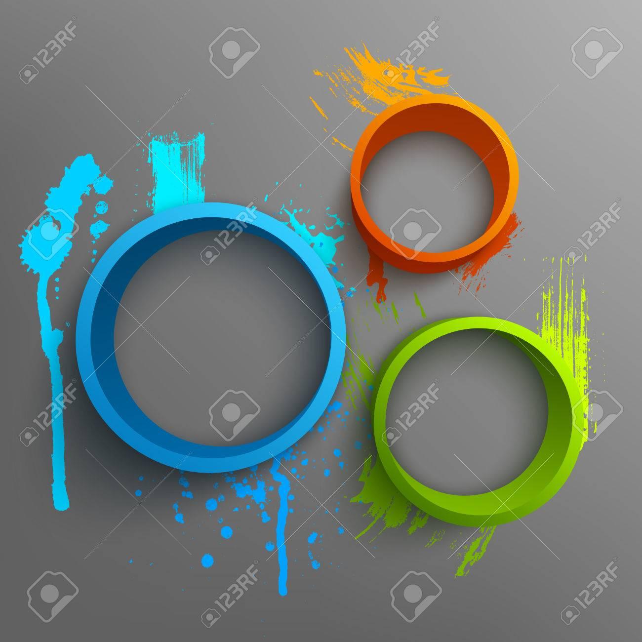 Poster design 3d - Vector Illustration Of 3d Rings Background Design For Banner Poster Flyer Hand