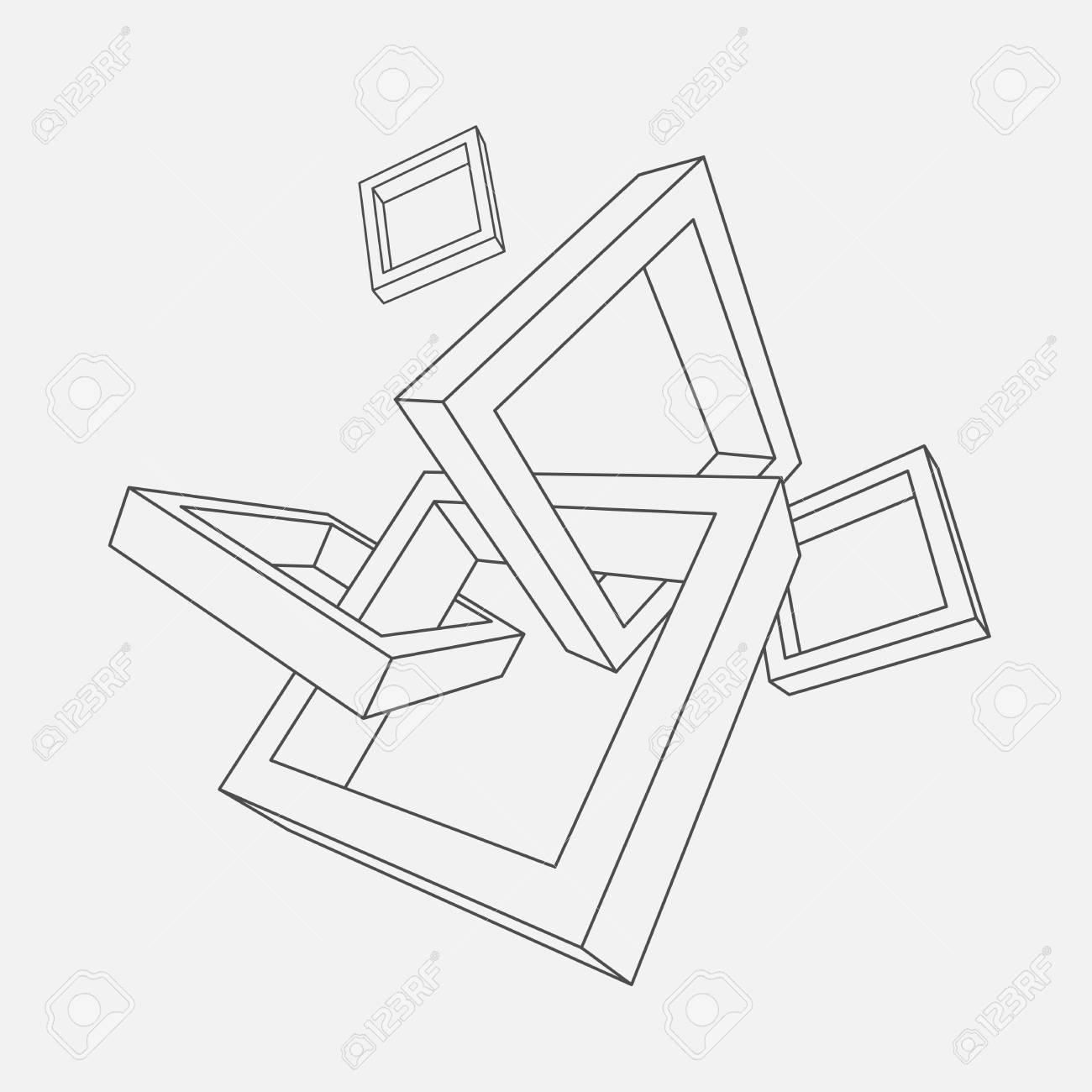 Zusammenfassung Vektor Illustration Von 3d Rahmen Mit Platz Für Text