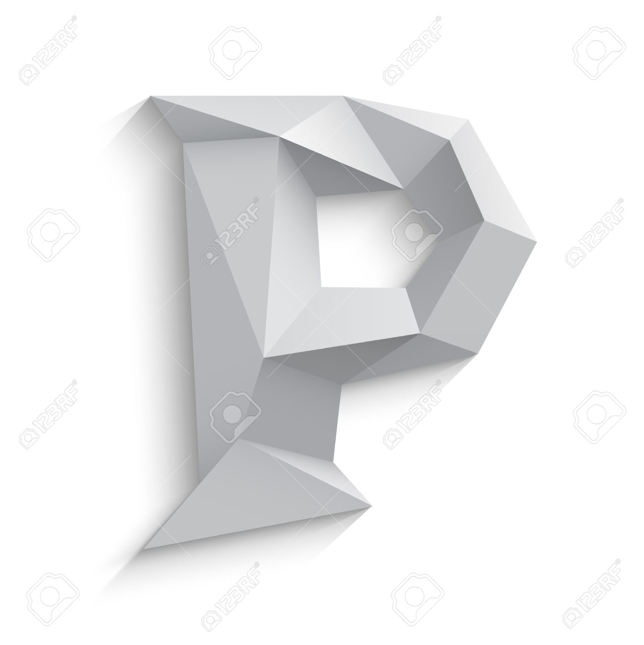 Vector illustration of 3d letter p on white background icon vector illustration of 3d letter p on white background icon design abstract template element biocorpaavc