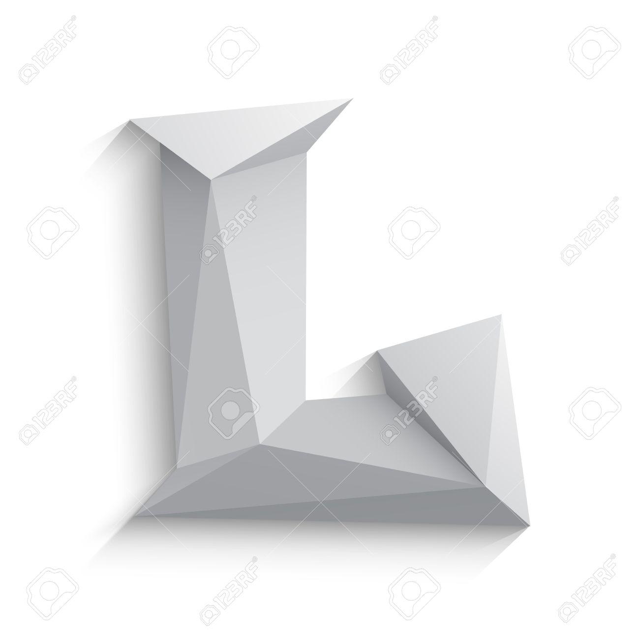 Ilustracion Vectorial De 3d Letra L En Fondo Blanco Diseno De Icono