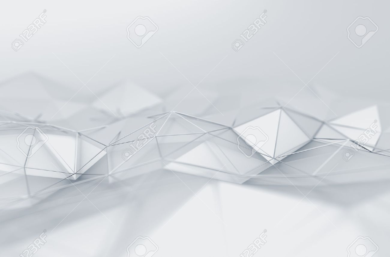 Smooth shaped white stones surface texture background stock photo - White Texture Abstract 3d Rendering Of White Surface Background With Futuristic Low Poly Shape
