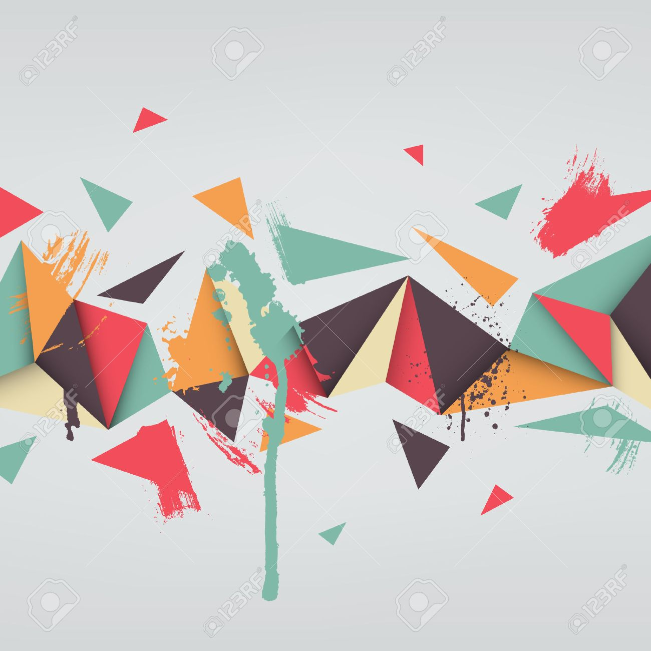 Vector Background Illustration Of Abstract Texture With Triangles