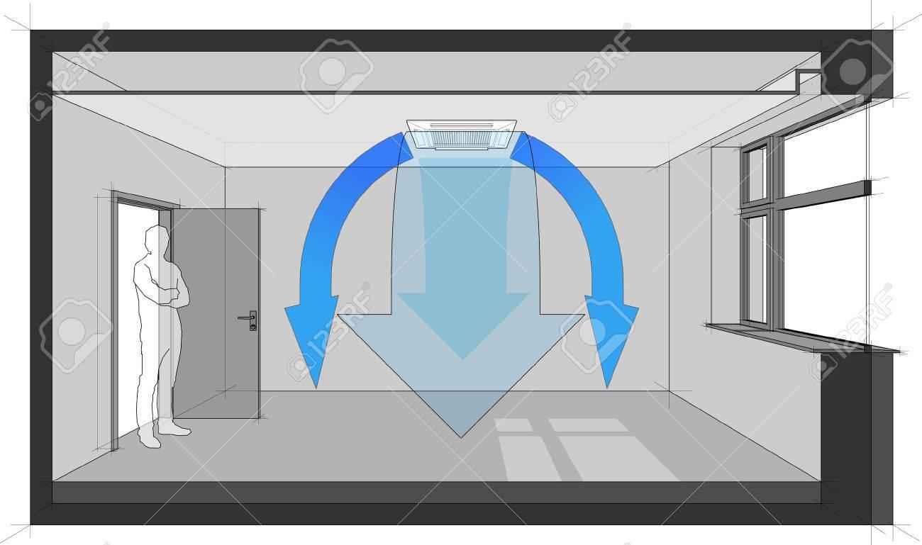 Deckenklimagerät Diagramm Lizenzfrei Nutzbare Vektorgrafiken, Clip ...
