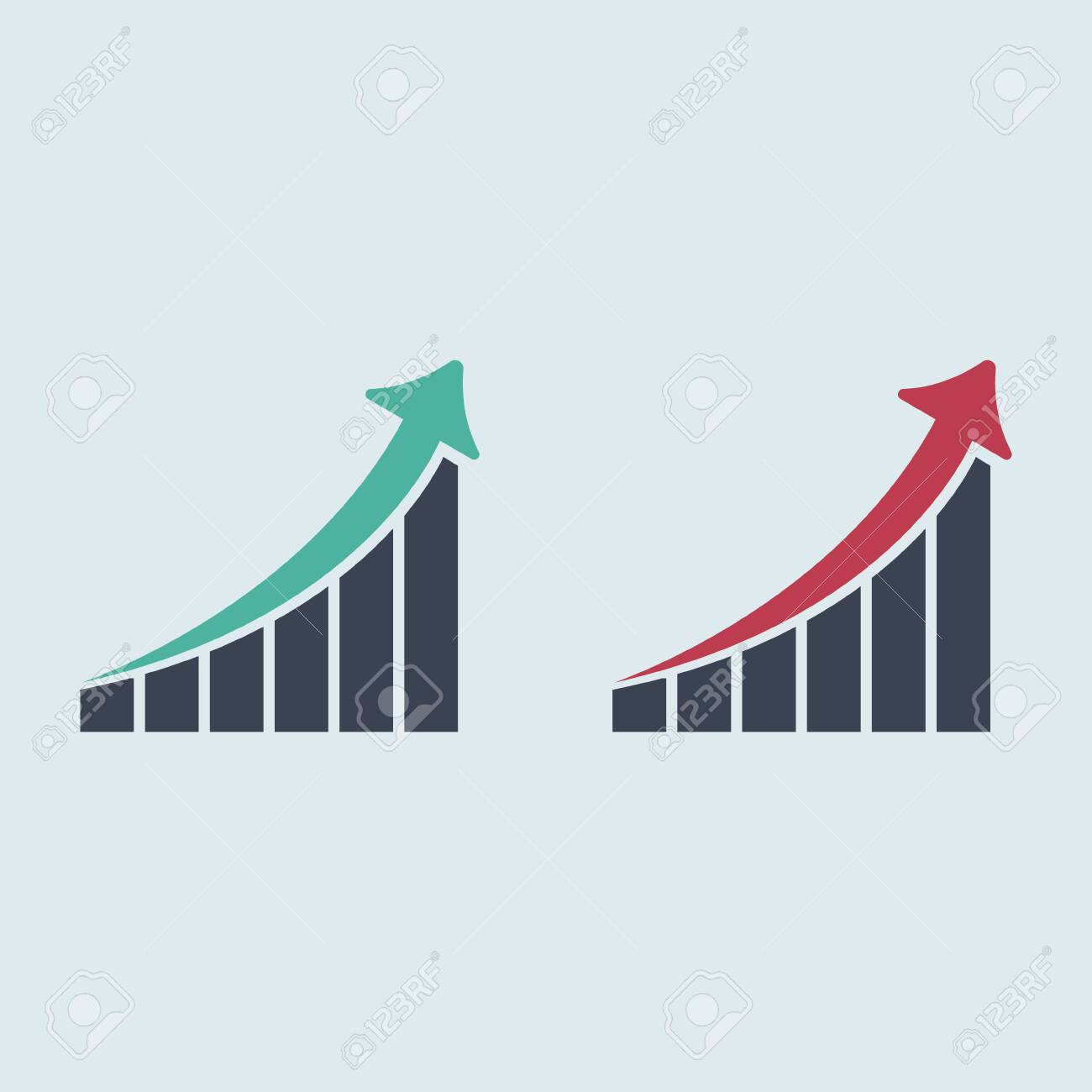 Growing graph icon. graph arrow up. vector flat symbol EPS10 - 146092814
