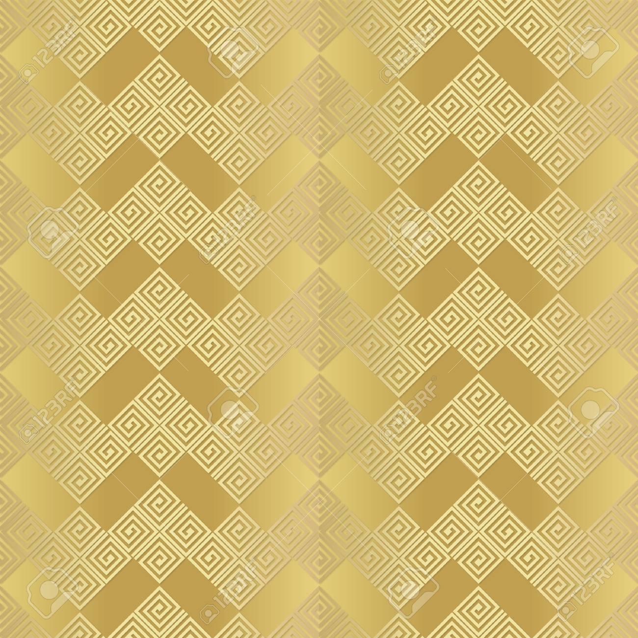 Metallic Color Seamless Pattern A Gold Background As An Imitation Of Metal For Printing