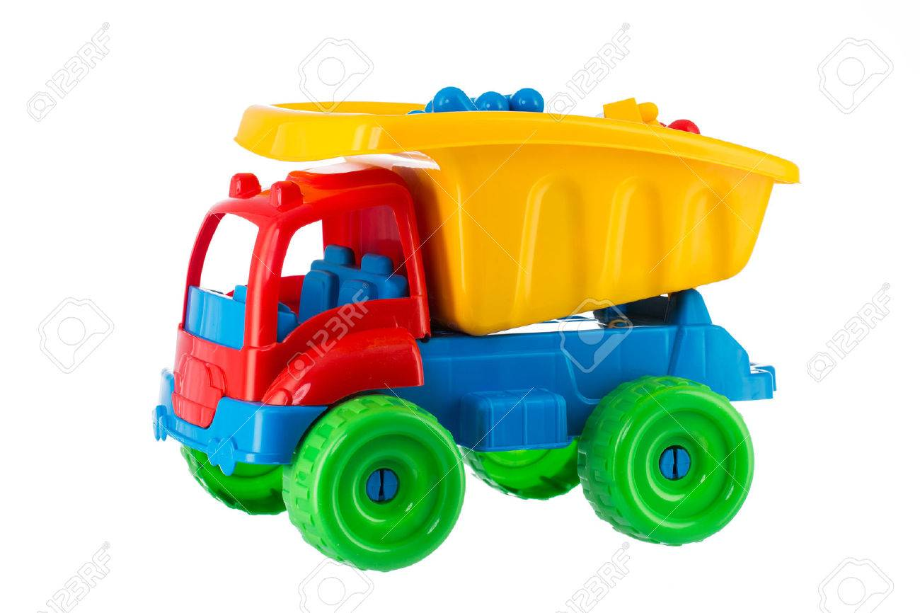 Colorful toy truck isolated on white background - 50533859