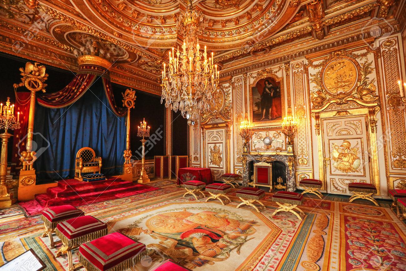 Paris, France, Versailles Palace Room Interior Stock Photo, Picture ...