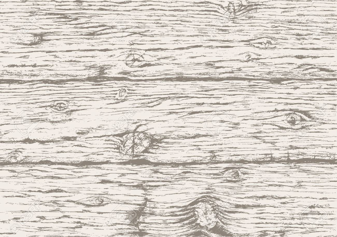 Gray wooden texture background.Hand drawn old wood board. Gray wooden horizontal planks background. Vector sketch. - 58727191